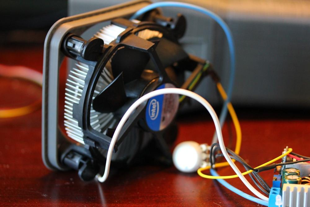 Fan wired up